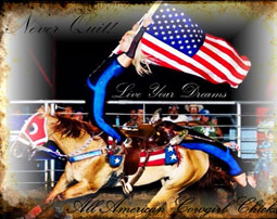 All American Cowgirl Chicks Cowgirl Equestrian Drill Team